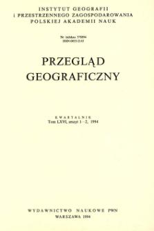 Przegląd Geograficzny T. 66 z. 1-2 (1994)