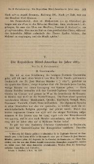 Die Republiken Mittel-Amerikas im Jahre 1889