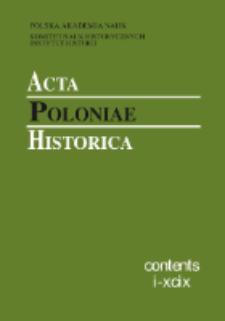 Acta Poloniae Historica T. 100 (2009), Contents I-XCIX