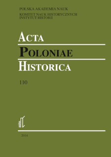 Acta Poloniae Historica. T. 110 (2014), Title pages, Contents
