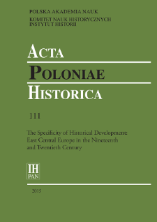 Acta Poloniae Historica. T. 111 (2015), Title pages, Contents
