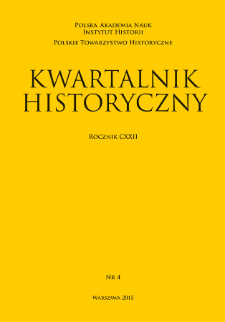 Kwartalnik Historyczny R. 122 nr 4 (2015), Title pages, Contents