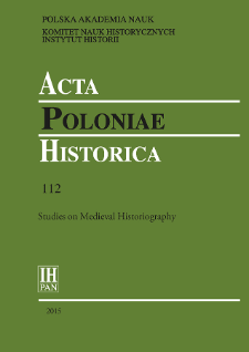 Acta Poloniae Historica. T. 112 (2015), Title pages, Contents