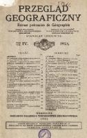 Przegląd Geograficzny T 4 1923