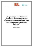 Of Scientific Institutes Niepewna Jasność Tekstu I