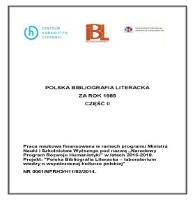 3042badefe806 Polska Bibliografia Literacka za rok 1985 część II.