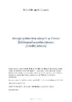 Recepcja Literatur Obcych W Polsce Bibliografia Podmiotowa