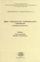 Dokumentacja Geograficzna Nr 32 Idee I Praktyczny Uniwersalizm