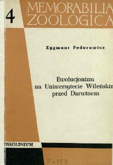 Ewolucjonizm na Uniwersytecie Wileńskim przed Darwinem