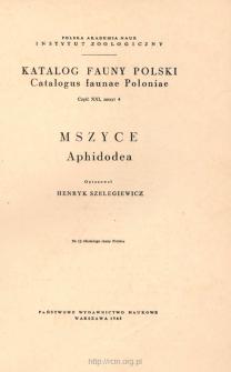 Mszyce = Aphidodea