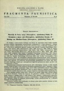 Materiały do fauny mszyc (Homoptera, Aphidodea) Polski. II. = Materialy k faune tlej (Homoptera, Aphidodea) Pol'ši. 2