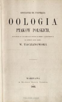 Oologia ptaków polskich : wystawiona na 170 tablicach rytych na miedzi i kolorowych