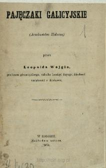 Pajęczaki galicyjskie (Arachnoidea Haliciae)