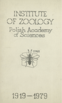 Institute of Zoology Polish Academy of Sciences : 1919-1979