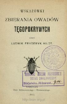Wskazówki zbierania owadów tęgopokrywych