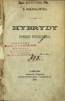 Hybrydy : powieść współczesna