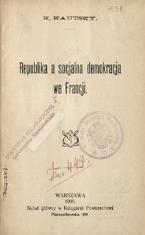 Republika a socjalna demokracja we Francji
