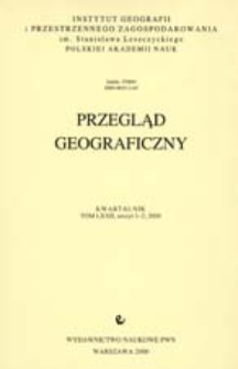 Przegląd Geograficzny T. 72 z. -1-2 (2000)