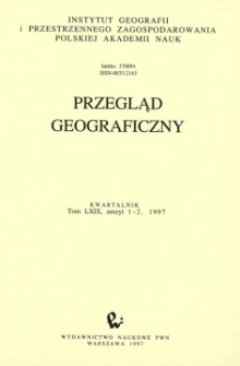 Przegląd Geograficzny T. 69 z. 1-2 (1997)