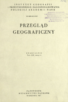 Przegląd Geograficzny T. 59 z. 4 (1987)