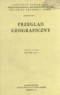 Przegląd Geograficzny T. 58 z. 4 (1986)