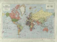 Kolonial-Weltwerkehrskarte : Äquatorial-Maßstab 1:100,000,000