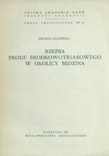 Rzeźba progu środkowotriasowego w okolicy Będzina = Relief of the Mid-Triassic escarpment in the vicinity of Będzin = Rel'ef srednetrijasovogo ustupa okrestnostej Bendzina