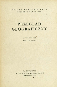 Przegląd Geograficzny T. 26 z. 3 (1954)