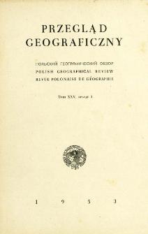 Przegląd Geograficzny T. 25 z. 3 (1953)