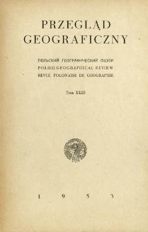Przegląd Geograficzny T. 23 (1950-1951)