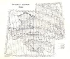 Spezialkarte der österreichisch-ungarischen Monarchie 1:75.000 [skorowidz arkuszy]