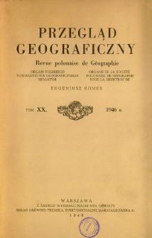 Przegląd Geograficzny T. 20 (1946)