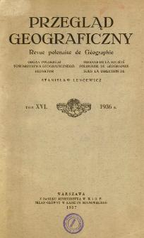Przegląd Geograficzny T. 16 (1936)