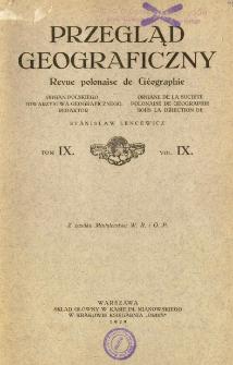 Przegląd Geograficzny T. 9 (1929)