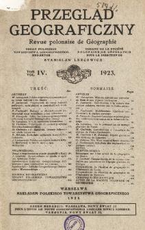 Przegląd Geograficzny T. 4 (1923)