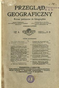 Przegląd Geograficzny T. 1 z. 1-2 (1918-1919)