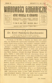 Wiadomości Geograficzne R. 2 z. 5-7 (1924)