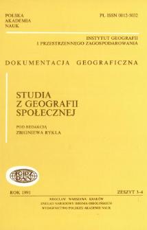 Studia z geografii społecznej = Studies in social geography