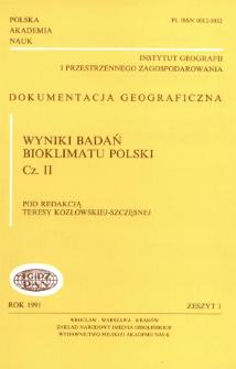 Wyniki badań bioklimatu Polski. Cz. 2 = Results of bioclimatic research of Poland