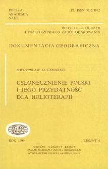 Usłonecznienie Polski i jego przydatność dla helioterapii = Sunshine - duration in Poland and its significance for heliotherapeutic purpose