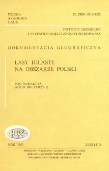 Lasy iglaste na obszarze Polski = Coniferous forests in Poland