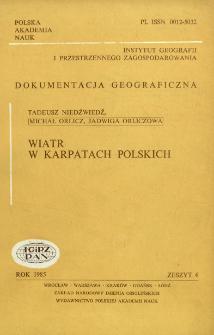 Wiatr w Karpatach polskich = Wind in the Polish Carpathian mountains
