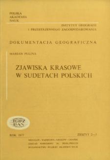 Zjawiska krasowe w Sudetach polskich = Karst phenomena in the Polish Sudets