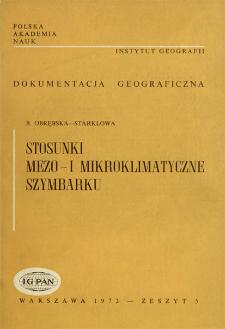 Stosunki mezo- i mikroklimatyczne Szymbarku = Meso- and microclimatic conditions at Szymbark