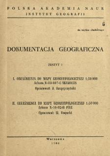 Objaśnienia do mapy geomorfologicznej 1:50 000 : arkusz N-33-107-C Szamocin