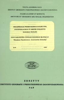 Organizacja przestrzenna rolnictwa indywidualnego w gminie Wolsztyn = Spatial organization of private farming in the Wolsztym commune