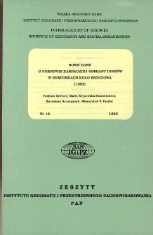 Nowe dane o pokrywie karpackiej odmiany lessów w Humaniskach koło Brzozowa (1992) = New data on the cover of the Carpathian variety of loesses in Humniska near Brzozów