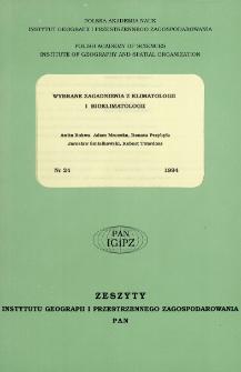Wybrane zagadnienia z klimatologii i bioklimatologii = Climatology and bioklimatology : selected research issues