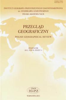 Cytowania i oddziaływanie polskich ośrodków geograficznych według Google Scholar = Citations and impact of the Polish geographical centers by Google Schoolar