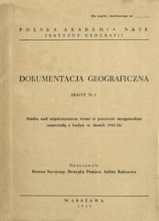 Studia nad użytkowaniem ziemi w powiecie mrągowskim : materiały do badań w latach 1955-56